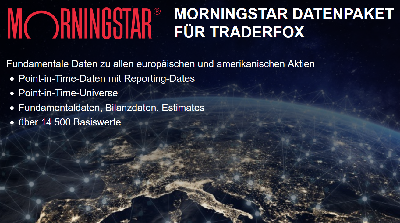 Morningstar-Datenpaket für TraderFox
